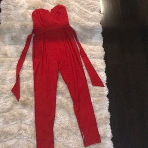 Chic Red Jumpsuit